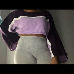 BOOHOO very cute Purple color block sweater-